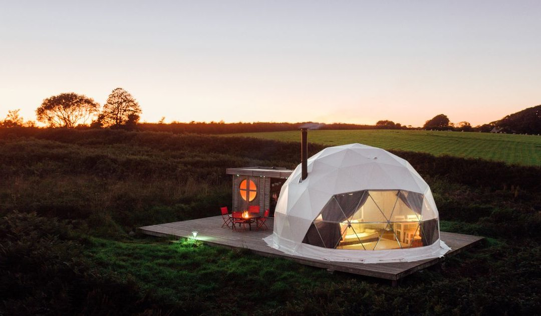 Inside the geodomes near Plymouth where you can go glamping under the stars – Plymouth Live